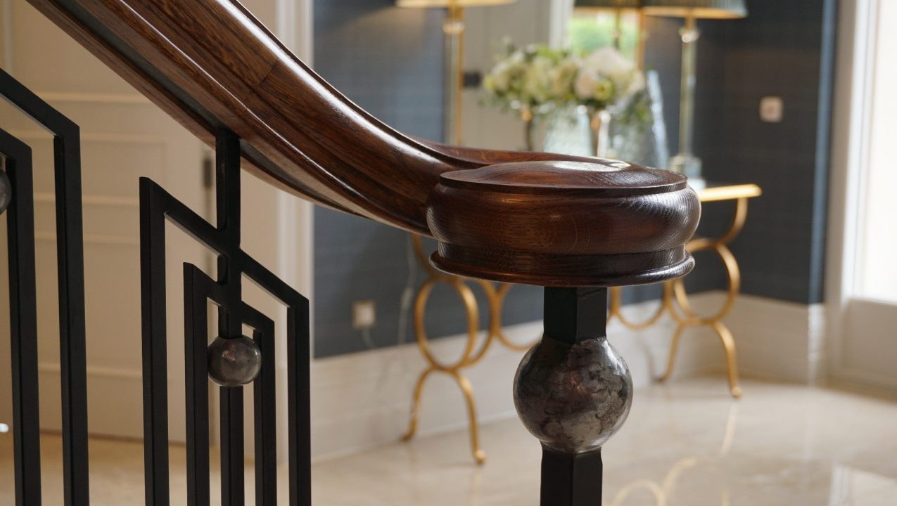 Eden Avenue, Lytham St Annes handrail project by PT Handrails at Clive Durose staircase company