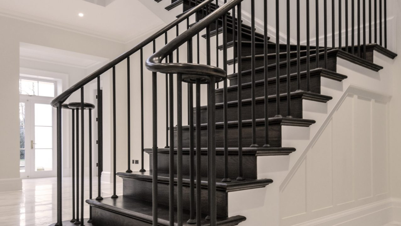 Staircase handrail & tread project by PT Handrails at Clive Durose