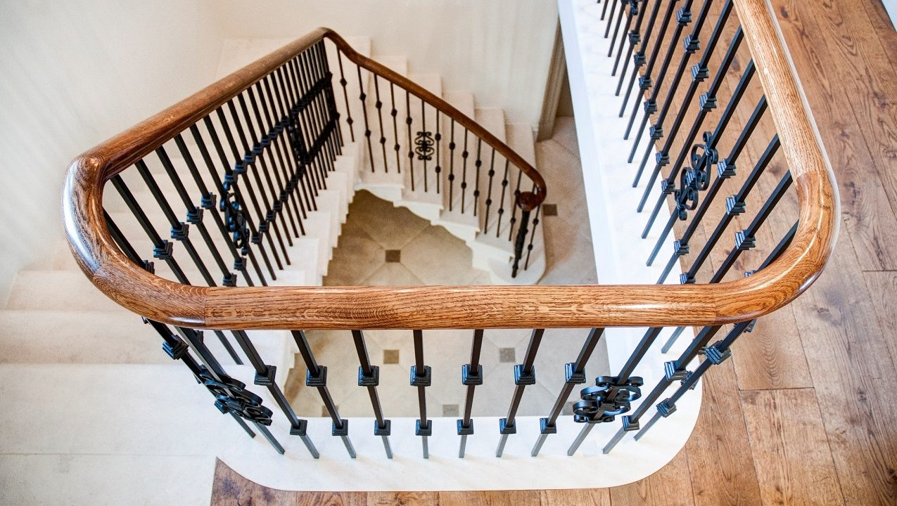 Precision Timber Handrails Wreaths on a Handrail